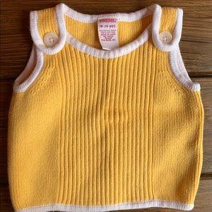 Gymboree Yellow Knit Tank Top Sweater